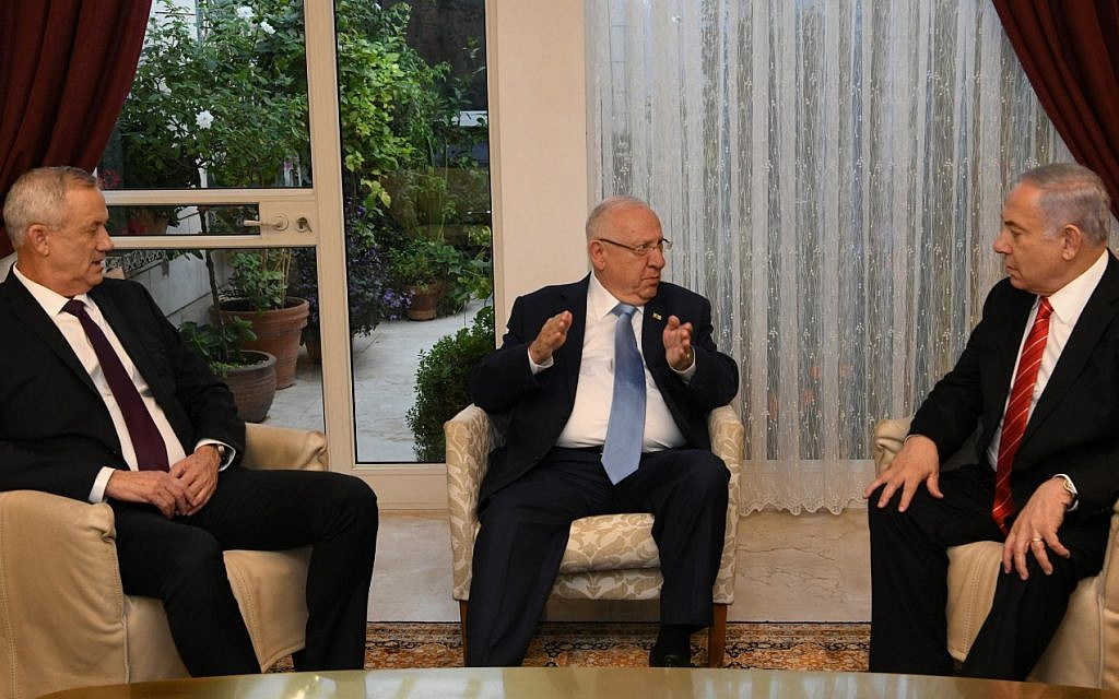 Rivlin, Netanyahu, Gantz meet September 27, 2019